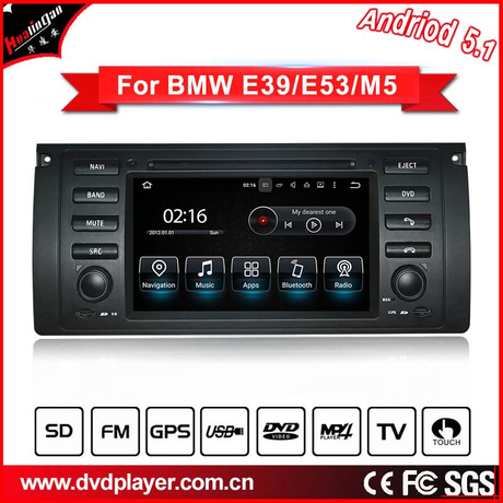carplay android BMW 5 E39 M5 gps navigation car dvd phone connections